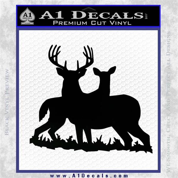 Buck And Doe Deer Hunting Decal Sticker A1 Decals