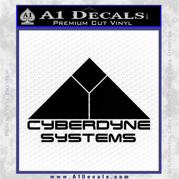 CYBERDYNE LOGO SKYNET TERMINATOR VINYL DECAL STICKER Black Logo Emblem