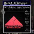 CYBERDYNE LOGO SKYNET TERMINATOR VINYL DECAL STICKER Pink Vinyl Emblem 120x120