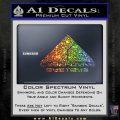CYBERDYNE LOGO SKYNET TERMINATOR VINYL DECAL STICKER Sparkle Glitter Vinyl 120x120