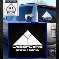 CYBERDYNE LOGO SKYNET TERMINATOR VINYL DECAL STICKER White Emblem 120x120