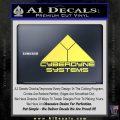 CYBERDYNE LOGO SKYNET TERMINATOR VINYL DECAL STICKER Yelllow Vinyl 120x120