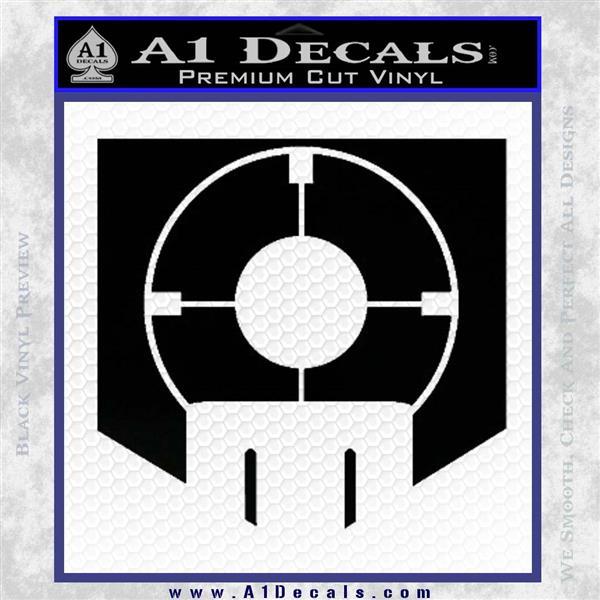 Call of Duty Deadshot Daiquiri Perk Decal Black Logo Emblem