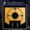 Call of Duty Deadshot Daiquiri Perk Decal Metallic Gold Vinyl 120x120
