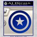 Captain USA Shield Decal Sticker Blue Vinyl 120x120