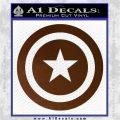 Captain USA Shield Decal Sticker Brown Vinyl 120x120