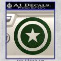 Captain USA Shield Decal Sticker Dark Green Vinyl 120x120