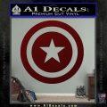 Captain USA Shield Decal Sticker Dark Red Vinyl 120x120