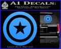 Captain USA Shield Decal Sticker Light Blue Vinyl 120x97