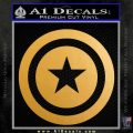 Captain USA Shield Decal Sticker Metallic Gold Vinyl 120x120