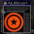 Captain USA Shield Decal Sticker Orange Vinyl Emblem 120x120
