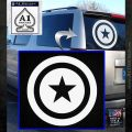 Captain USA Shield Decal Sticker White Emblem 120x120