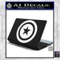 Captain USA Shield Decal Sticker White Vinyl Laptop 120x120