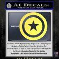Captain USA Shield Decal Sticker Yelllow Vinyl 120x120