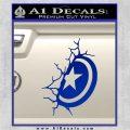Captain USA Shield Wall Decal Sticker Blue Vinyl 120x120
