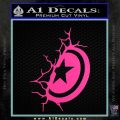 Captain USA Shield Wall Decal Sticker Hot Pink Vinyl 120x120