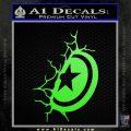 Captain USA Shield Wall Decal Sticker Lime Green Vinyl 120x120
