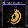 Captain USA Shield Wall Decal Sticker Metallic Gold Vinyl 120x120