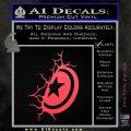 Captain USA Shield Wall Decal Sticker Pink Vinyl Emblem 120x120