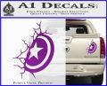 Captain USA Shield Wall Decal Sticker Purple Vinyl 120x97