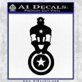 Captain USA With Shield Decal Sticker Black Logo Emblem 120x120
