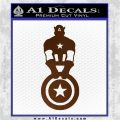 Captain USA With Shield Decal Sticker Brown Vinyl 120x120