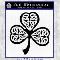 Celtic Knot Shamrock Decal Sticker DH Black Logo Emblem 120x120