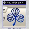 Celtic Knot Shamrock Decal Sticker DH Blue Vinyl 120x120