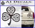 Celtic Knot Shamrock Decal Sticker DH Carbon Fiber Black 120x97