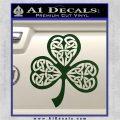 Celtic Knot Shamrock Decal Sticker DH Dark Green Vinyl 120x120