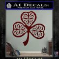 Celtic Knot Shamrock Decal Sticker DH Dark Red Vinyl 120x120
