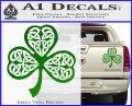 Celtic Knot Shamrock Decal Sticker DH Green Vinyl 120x97