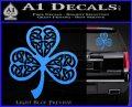 Celtic Knot Shamrock Decal Sticker DH Light Blue Vinyl 120x97