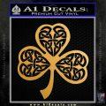 Celtic Knot Shamrock Decal Sticker DH Metallic Gold Vinyl 120x120