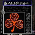 Celtic Knot Shamrock Decal Sticker DH Orange Vinyl Emblem 120x120