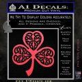 Celtic Knot Shamrock Decal Sticker DH Pink Vinyl Emblem 120x120