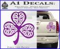 Celtic Knot Shamrock Decal Sticker DH Purple Vinyl 120x97