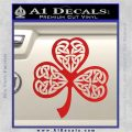 Celtic Knot Shamrock Decal Sticker DH Red Vinyl 120x120