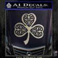 Celtic Knot Shamrock Decal Sticker DH Silver Vinyl 120x120