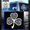 Celtic Knot Shamrock Decal Sticker DH White Emblem 120x120