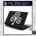 Celtic Knot Shamrock Decal Sticker DH White Vinyl Laptop 120x120