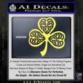 Celtic Knot Shamrock Decal Sticker DH Yelllow Vinyl 120x120
