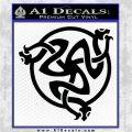 Celtic Knot Snake DS Decal Sticker Black Logo Emblem 120x120
