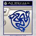 Celtic Knot Snake DS Decal Sticker Blue Vinyl 120x120