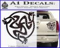 Celtic Knot Snake DS Decal Sticker Carbon Fiber Black 120x97