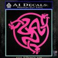 Celtic Knot Snake DS Decal Sticker Hot Pink Vinyl 120x120