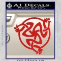 Celtic Knot Snake DS Decal Sticker Red Vinyl 120x120
