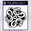 Celtic Knot Snake Decal Sticker DH Black Logo Emblem 120x120