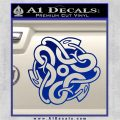 Celtic Knot Snake Decal Sticker DH Blue Vinyl 120x120
