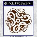 Celtic Knot Snake Decal Sticker DH Brown Vinyl 120x120